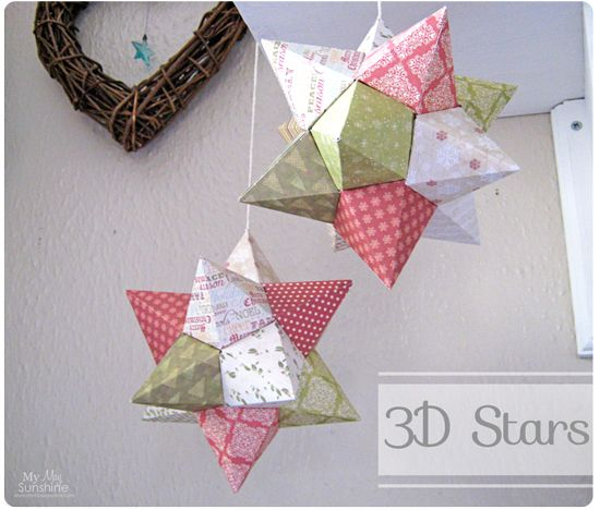My May Sunshine: 3D Origami Stars