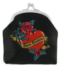 Love Forever Embroidered Coin Purse
