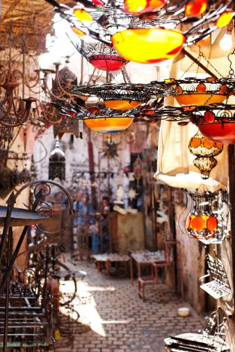 small alleyway in the Marrakech souk (market) Morocco !