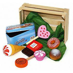 Süßes Essen inkl. Holzstiege - Exklusivartikel
