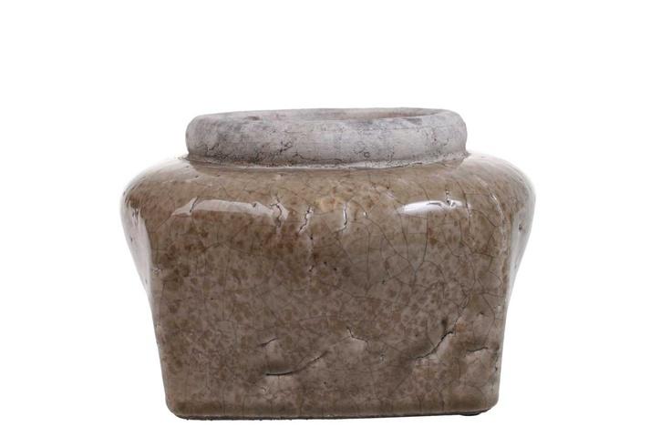 Flower pot - antique look - mushroom