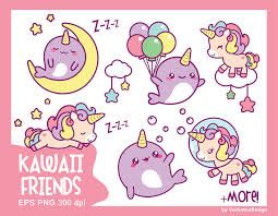 cute unicorns clipart