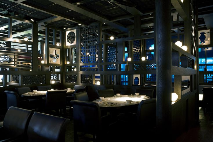 Hakkasan, London (Hanway Place) One of the best restaurants ever. With a look and feel from the movies.