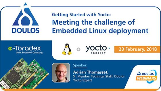 Join #Doulos for a free 60-minute #webinar on February 23, which delves into how a minimal #Linux system can be extended to include custom, packaged software. The example platform will include a Colibri SoM from Toradex. Get your free registrations now! #Yocto