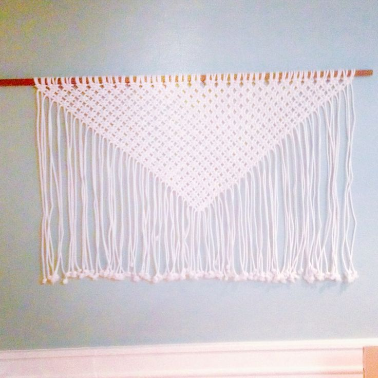 Large Triangle Boho Curtain.  For Sale $75   #ellainthemoon