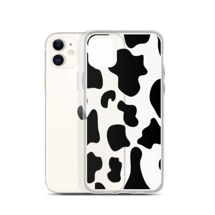 Cow print clear iphone case in 2020 iphone cases cow