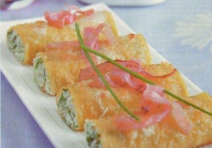 cannelloni con ricotta speck e asparagi