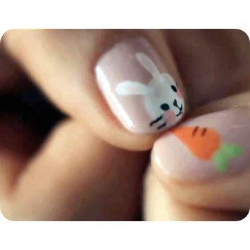 Bunny carrot kawaii Nail nail art pink