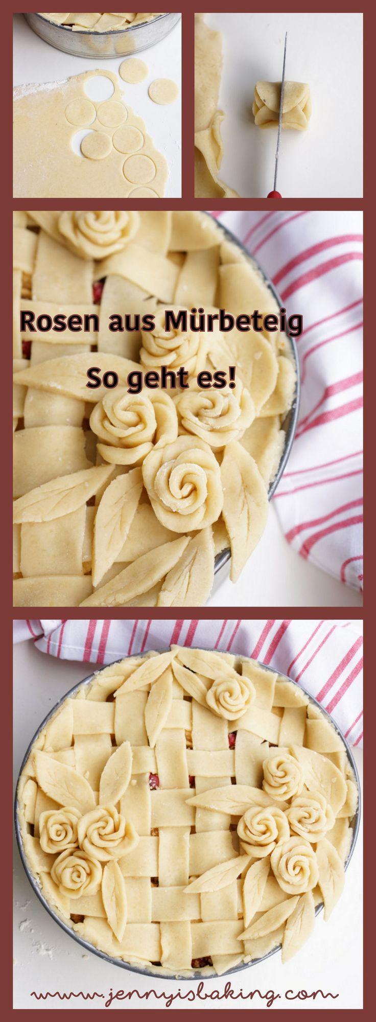 Wie man Rosen aus Mürbeteig macht #mürbeteig #rosen #rosenausteig #wiemachtman #pie