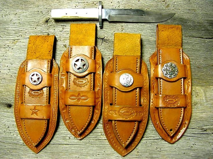 Cowboy Knives Leather Knife Sheaths Bowie Knives Old