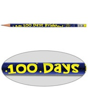 100 Days Brighter Pencils... Wish I had found these sooner, our 100th day is this Monday.