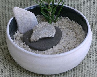 Steingut Geschirr, erstellen Ihre eigenen Zen-Garten, Meditationsgarten, Sukkulenten-Garten! SunShineLane; €14,99