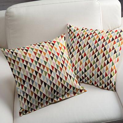 Gobeläng Triangles - Bomull - Polyester - Polyakryl - färgmix
