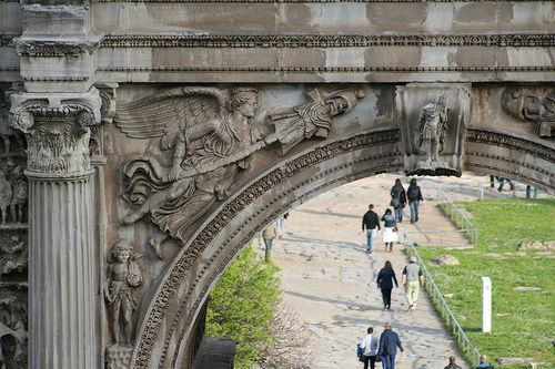Composite Order: the arch of Septimius Severus, Rome, Italy.