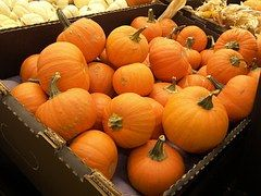 Pumpkins, Crate, Food, Vegetables