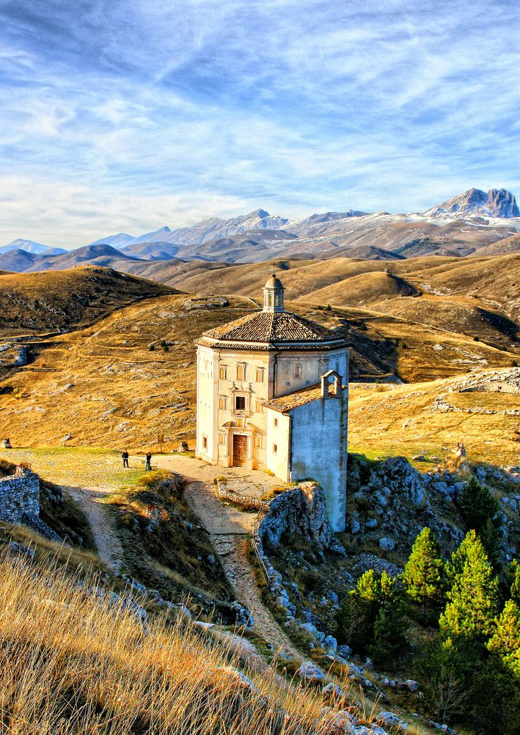 Visit Santa Maria della Pietà at Rocca Calascio, an octagonal 17th century church near the fortress of Rocca Calascio, for some truly jaw-dropping views of the Apennine Mountains.