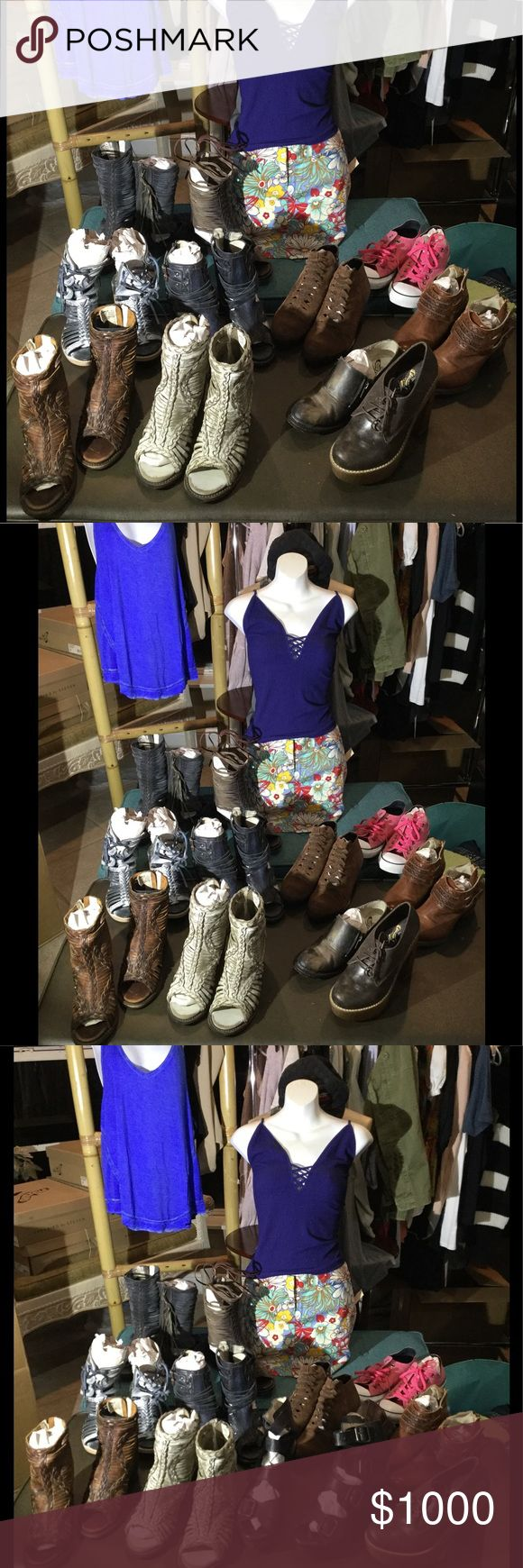 Freebird by steve  group picture Freebird by steve Nest, Bela , mason,  keys, quail,  ask  me about colors and sizes. Every thing is brand new . We carry all different brands for everybody's budget. Steve Madden Shoes Ankle Boots & Booties