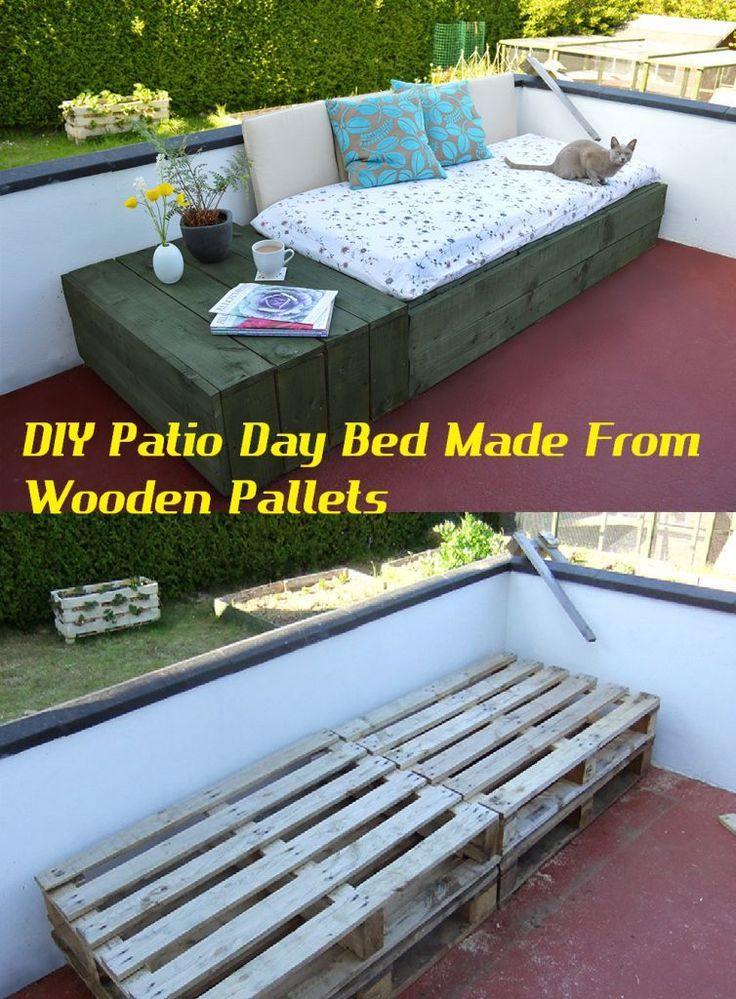 DIY Patio Beds Made From Wooden Pallets