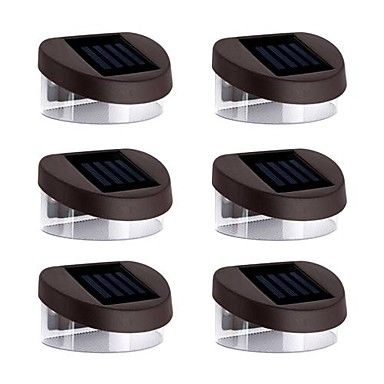 6pcs+2LED+White+Solar+Lights+Wall+Stair+Parapet+Walkway+Outdoor+Deck+Lamp +–+CAD+$+33.35