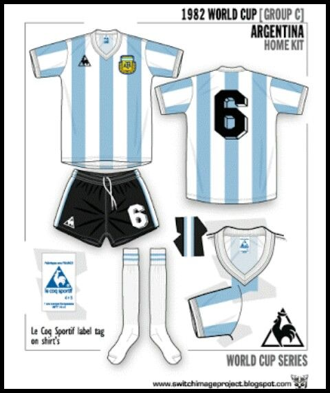 Argentina home kit for the 1982 World Cup Finals.