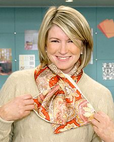 In the mid-19th century, Paisley scarves were popular accessories for  many well-dressed women, and they have never lost their appeal. Martha  shows how to make one of these chic, short scarves with Paisley silk and  cashmere.