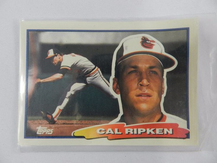 1988 cal ripken topps 62 baseball card orioles cartoon
