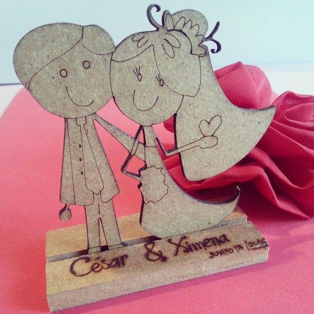 Recordatorio de boda en Mdf