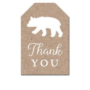Free Printable Thank You Tags – Woodland Fox Animals Arrow Tribal – Favor Tags B… – Zoo party