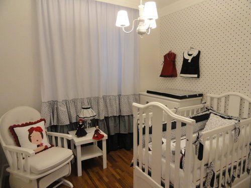 Poás e branco e preto: De Bebe, Idea Cortinas, Room, Decoration, Kids Room, De Bebê, Baby Room