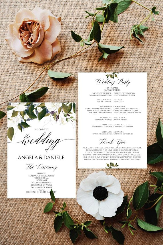 Best 25+ Program template ideas on Pinterest Wedding program - memorial service invitation template