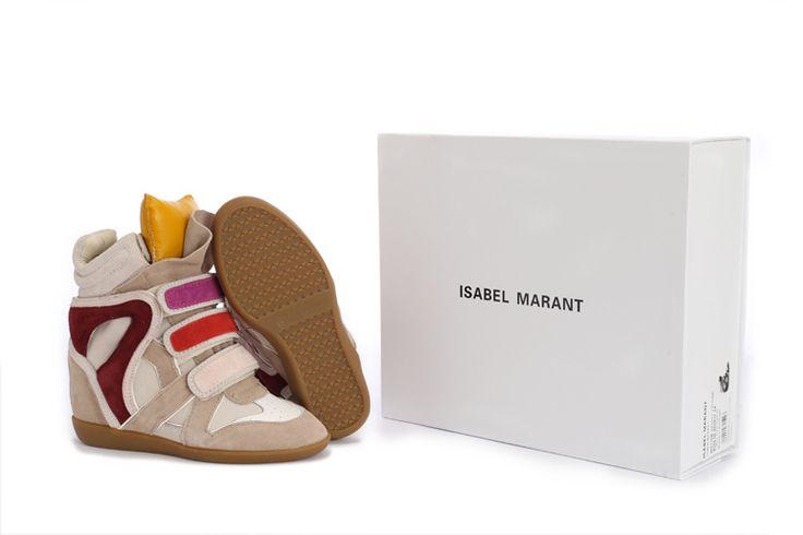 Isabel Marant Wedge Sneakers Suede White Beige $299.00 http://www.marantoutlet.com/cheap-isabel-marant-wedge-sneakers-suede-white-beige_10.html