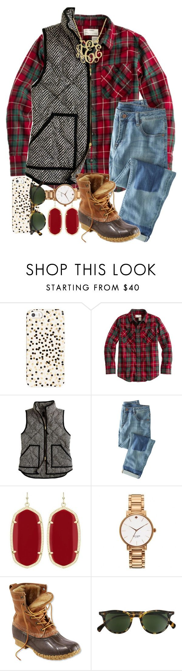 """Idk ab y'all... but I'm happy about the results of the election.."" by thefashionbyem ❤ liked on Polyvore featuring Kate Spade, J.Crew, Wrap, Kendra Scott, L.L.Bean and Oliver Peoples"