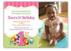 BabyFirstTV TV Favorites Birthday Party Photo Invitation For Girls