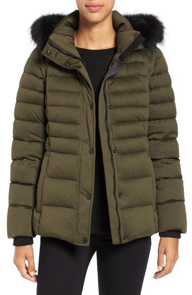 ANDREW MARC 'Kelly' Convertible Down Jacket with Genuine Fox Fur Trim. #andrewmarc #cloth #