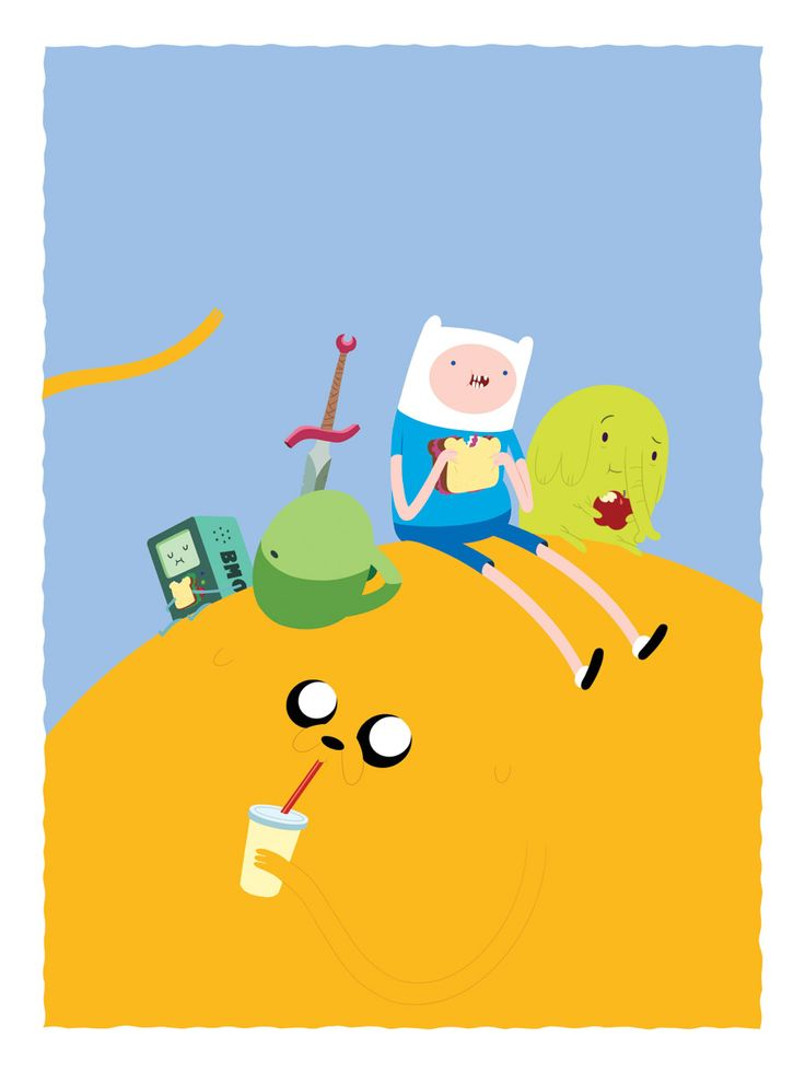 Picnic time with Finn and Jake by ~lanbridge on deviantART