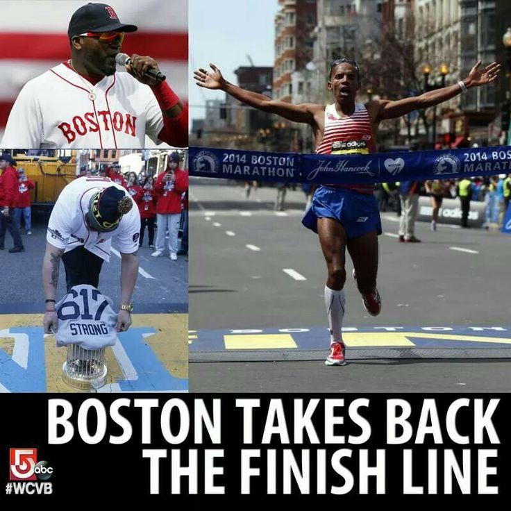 Boston takes back the Finish Line 2014 | Ahhh Boston You're My Home! | Pinterest