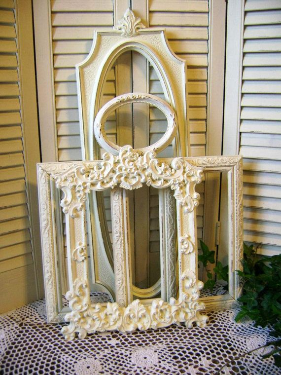 Picture Frames Ornate French Country Nursery by BusyBeaversAttic, $52.00