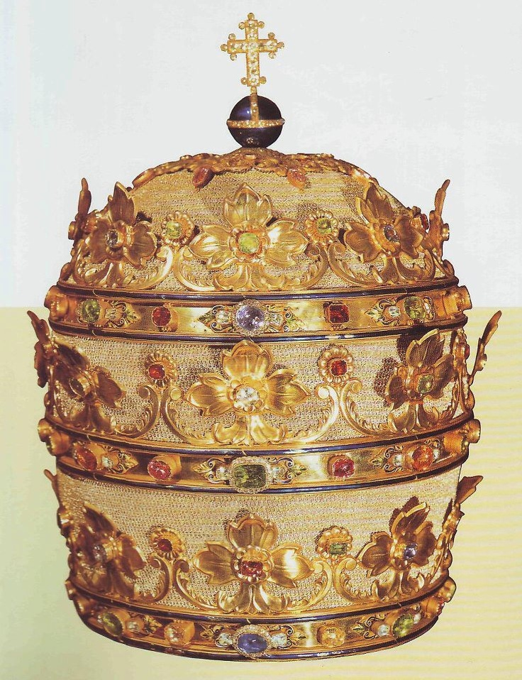 Tiara worn by Pope Pius IX on December 8, 1854, on the occasion of the proclamation of the dogma of the Immaculate Conception of the Blessed Virgin Mary.