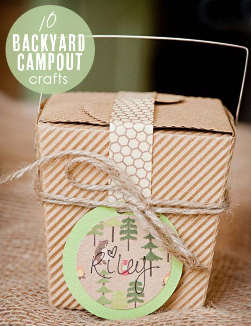 10 Backyard Campout Crafts   origin:  Cyd Converse - spoonful.comDiy Kits, Wedding Favors, Parties Favors, Diy Smores, Smores Kits, S More Kits, Sweetest Occasion, Baby Boy, Kits Favors