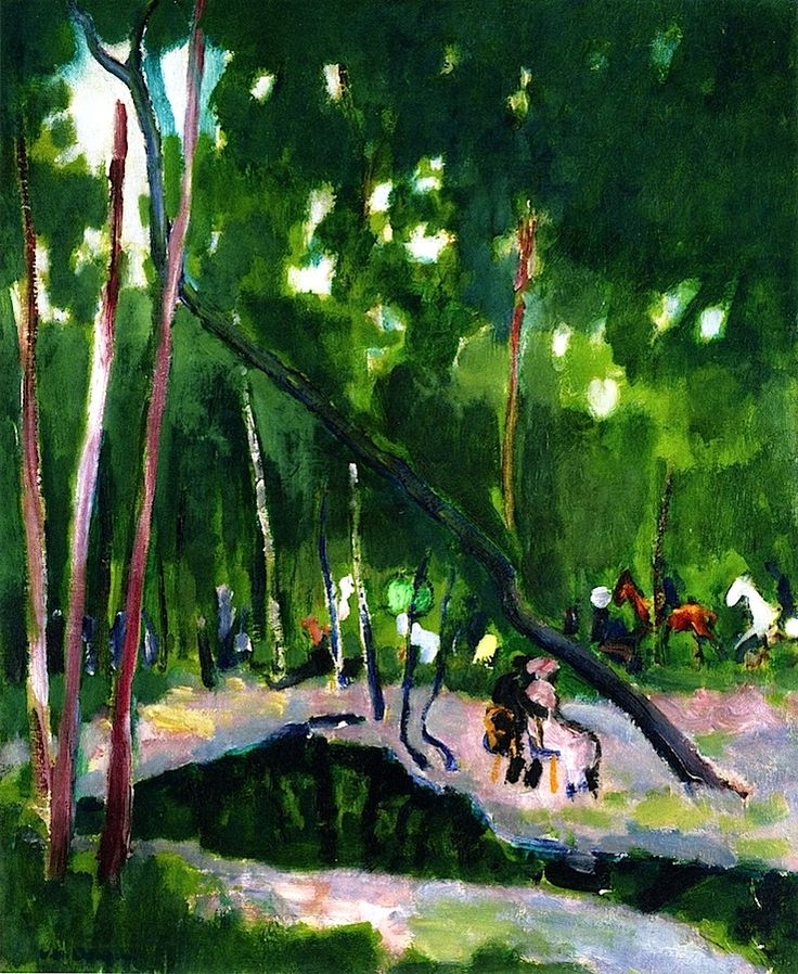 In the Woods Kees Van Dongen / should be terrific spot to lay down with a friend, a real one.