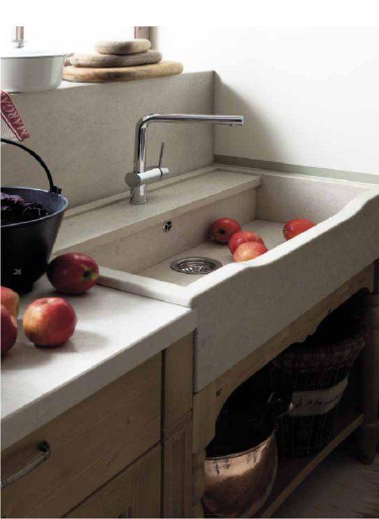 17 migliori idee su lavello in pietra su pinterest bagno - Mobile lavandino cucina ...