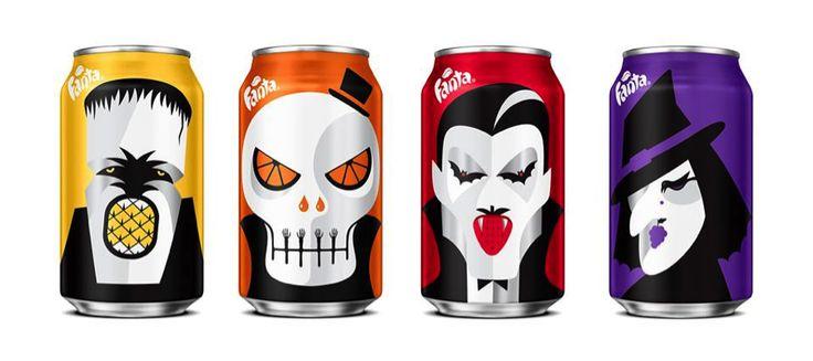 Fanta Cans gets dressed up for Halloween — The Dieline - Branding & Packaging Design