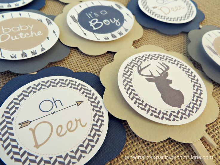 deer baby shower decorations baby shower decorations baby shower dcor deer baby shower cupcake toppers choose the color