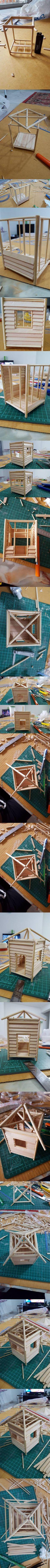 Step by Step to Make a Mini Beach Hut Part 1