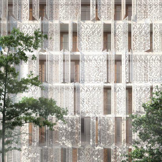 Loch-Fassaden: Perforierte Architektur-Materialien
