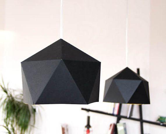 plantillas para hacer una pantalla de lmpara con papel