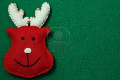 Reindeer On Felt Background Royalty Free Stock Photo, Pictures, Images And Stock Photography. Image 16530721.