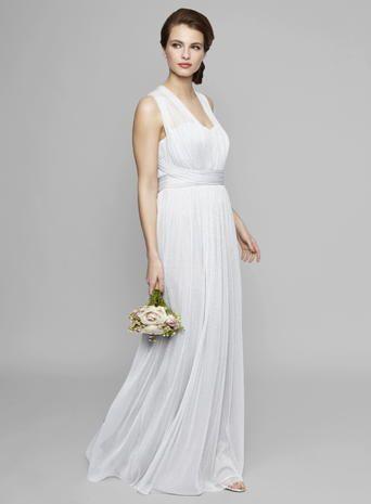 Grey Emily Glitter Bridesmaid Dress