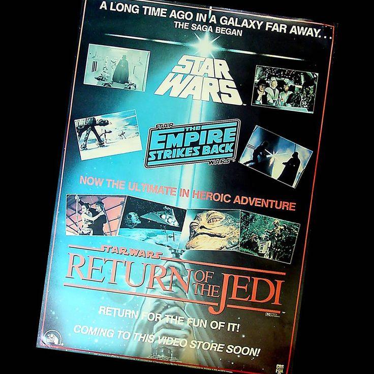 Star Wars NZ - vintage ROTJ on VHS poster
