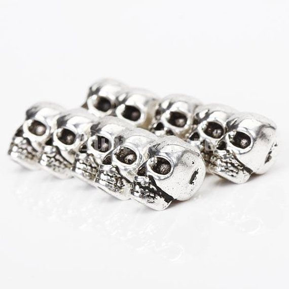 10pcs Tibet Silver Skull Spacer Beads by SusanSupply on Etsy, $3.43